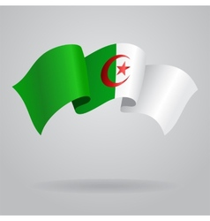 Algerian waving Flag vector