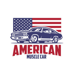 american muscle car isolated vector image