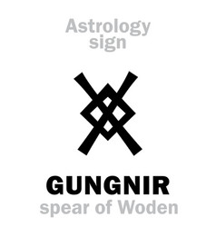 astrology gungnir wodens spear vector image