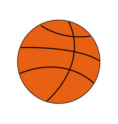 basketball ball sport equipment supply icon vector image