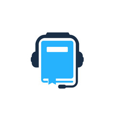 Book podcast logo icon design vector