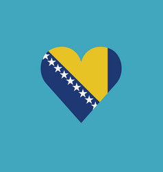 bosnia and herzegovina flag icon in a heart shape vector image