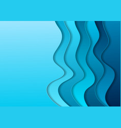 bright blue material elegant waves abstract vector image