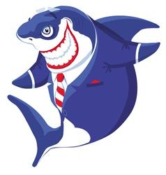 Bussines shark vector