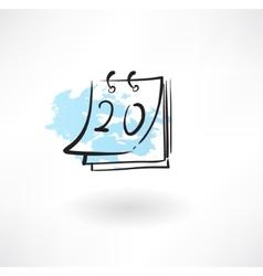 Calendar grunge icon vector