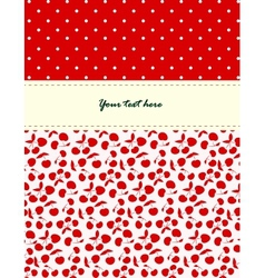 Card with cherries pattern vector image