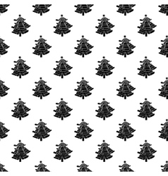 Christmas tree pattern seamless vector image
