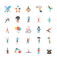 Circus icons pack vector
