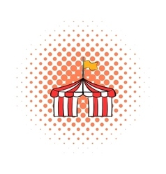 Circus tent comics icon vector