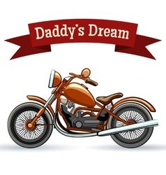 Colored retro motorcycle design vector image