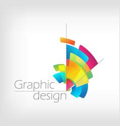 concept symbol graphic design colorful pencil vector image
