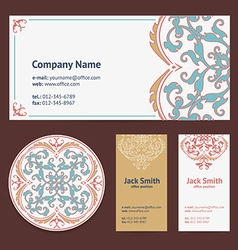 Corporative Business Cards Design Set and Envelope vector