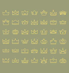 crown icon editable outline stroke vector image