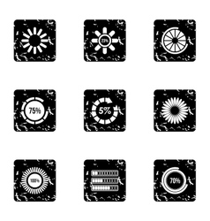 Download icons set grunge style vector