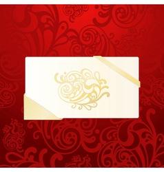 eps10 christmas greeting card on abstract seamless vector image