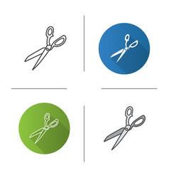 Fabric scissors icon vector