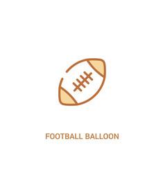 Football balloon concept 2 colored icon simple vector