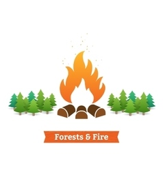 Forests and fire vector