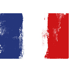 France colorful brush strokes painted flag vector