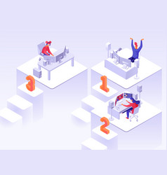 game tournament isometric flat vector image