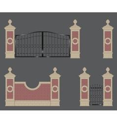 garden gate vector image