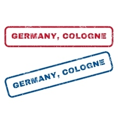 Germany Cologne Rubber Stamps vector image
