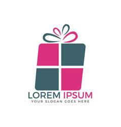 Gift logo design vector