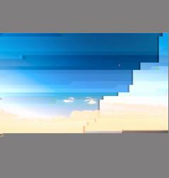 Glitch creative background vector