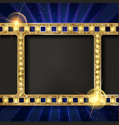 gold film on curtain backdrop vector image