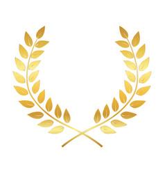 Golden award laurel wreath winner leaf label vector