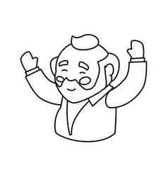 grandfather adult elder cartoon vector image
