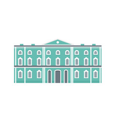 green city historical building icon flat style vector image