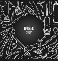 Hairdressers professional tools vector