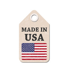 hang tag made in usa with flag vector image