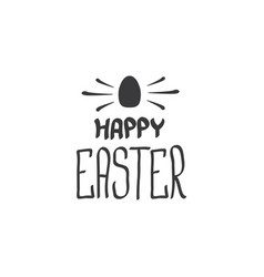 happy easter text lettering isolated on white vector image