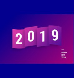 happy new year 2019 colorful gradient vector image