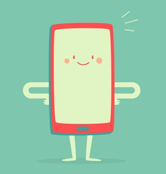 Happy Smartphone Smiling vector image