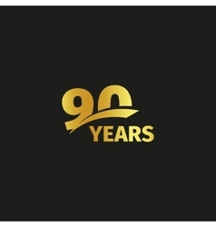 Isolated abstract golden 90th anniversary logo vector