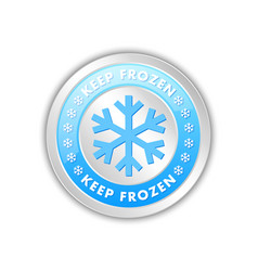 keep frozen circular badge with snowflakes vector image