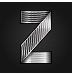 Letter metal chrome ribbon - Z vector image