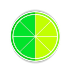 Lime Fruit yellow ripe Flat Icon vector image