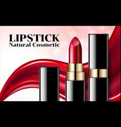 lipstick ads elegant liquid lipsticks makeup vector image
