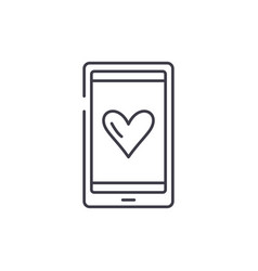 love messages line icon concept love messages vector image
