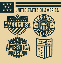 Made in usa united states america usa flag vector