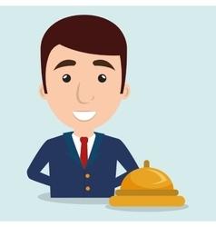 manager adminitrator man hotel vector image