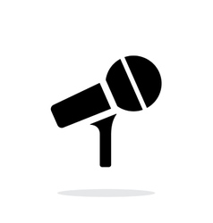 Microphone on stand icon on white background vector image