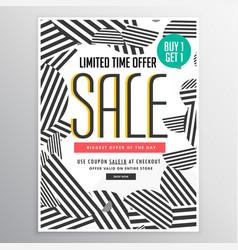 Modern trendy sale poster banner design concept vector