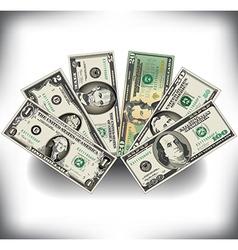 Money fan vector
