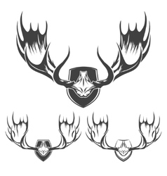 Moose Horns Set vector