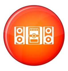Music center icon flat style vector image